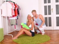 Beautiful blonde virgin gets her beautiful body ravished for the first time