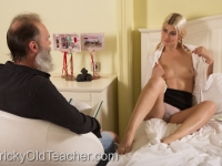 Gabby fucks her tutor in her own bedroom