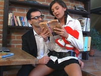 Karina : Lara's teacher cums in her mouth. : sex scene #2