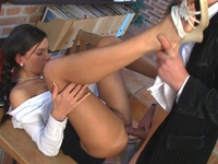 Karina : Lara's teacher cums in her mouth. : sex scene #9