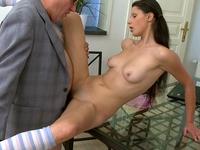 Simona : Simona's first time blowjob on her tricky old teacher : sex scene #7