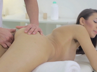 Nika : Tight pussy Nika has her masseuse take her virginity. She loves his hot cock inside her. : sex scene #3