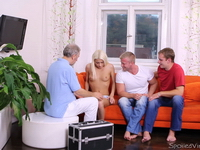 Tanya : These guys played with her pussy not knowing she was one of the spoiled virgins : sex scene #3