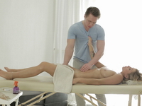 Vera came for a massage and I fucked her finally