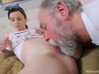 Lenka : This old goes young guy admired Lenka's ass before licking her pussy and fucking her : sex scene #5