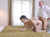 Lenka : This old goes young guy admired Lenka's ass before licking her pussy and fucking her : sex scene #14