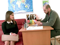 Karolin : If Karolin wants to pass the class she has to fuck her teacher : sex scene #2