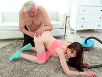 Luna Rival : Luna Rival gets fucked while she vacuums the rug : sex scene #3