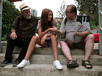 Sofia Like : Sofia Like fuck with two old guys : sex scene #2