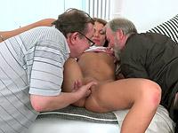 Sofia Like : Sofia Like fuck with two old guys : sex scene #5