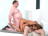 Sofia Like : Sofia Like fuck with two old guys : sex scene #11