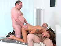 Sofia Like : Sofia Like fuck with two old guys : sex scene #12
