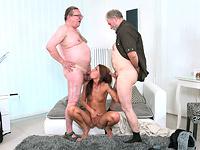 Sofia Like : Sofia Like fuck with two old guys : sex scene #14