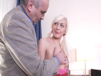 Lola Shine : Gorgeous blondie makes old teacher focus on her. : sex scene #3