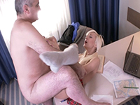 Lola Shine : Gorgeous blondie makes old teacher focus on her. : sex scene #6