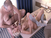 Lola Shine : Gorgeous blondie makes old teacher focus on her. : sex scene #12
