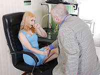 Lolly Small : Old but tireless teacher satisfies sex-hungry blonde : sex scene #2