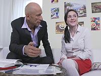 Kiara Gold : Talented cutie passes a blowjob exam. : sex scene #2