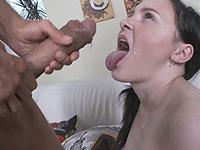 Kiara Gold : Talented cutie passes a blowjob exam. : sex scene #15