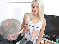 Joleyna Burst : Experienced man gives a sex lesson to blonde. : sex scene #2