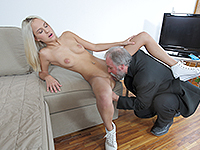 Joleyna Burst : Experienced man gives a sex lesson to blonde. : sex scene #6