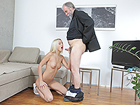 Joleyna Burst : Experienced man gives a sex lesson to blonde. : sex scene #7