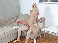 Joleyna Burst : Experienced man gives a sex lesson to blonde. : sex scene #10