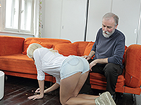 Karol Loilien : Hard-working old man satisfies a blondie. : sex scene #2