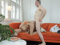 Karol Loilien : Hard-working old man satisfies a blondie. : sex scene #8