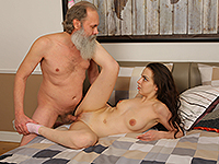 Milana Witch : Lazy brunette uses hot body to seduce her old teacher. : sex scene #5