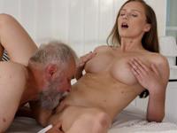 Stacy Cruz : Cutie rides an old dick until mutual orgasm : sex scene #7