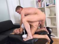 Ria Sunn : Dude watches hot blonde cleaning his place : sex scene #8