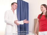 Ivanna : Masseur gives hot smoking client a deep cunnilingus : sex scene #1
