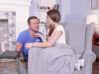 Ginger : Cutie caresses her boyfriend from head to toes : sex scene #3