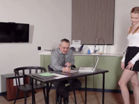 Ivi Rein : Cutie uses her body to pass the exam successfully : sex scene #1