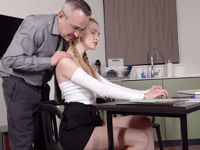 Ivi Rein : Cutie uses her body to pass the exam successfully : sex scene #3