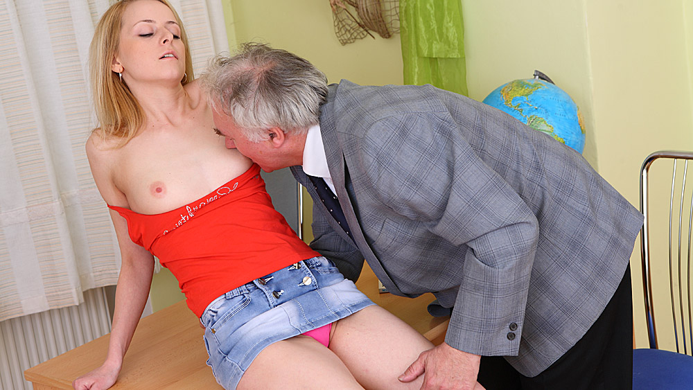 Teacher Fucks Blonde Student