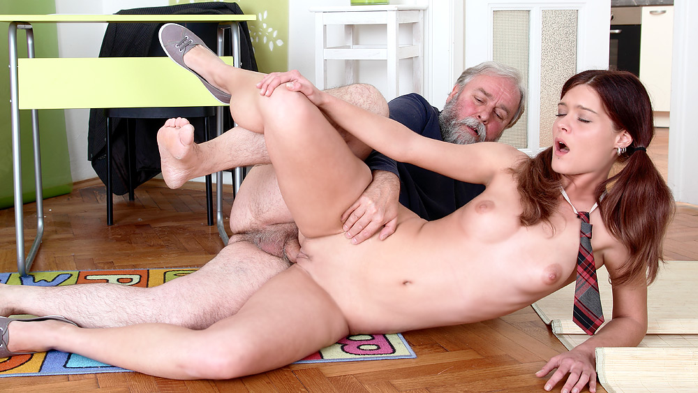 Old Man Fucks Blonde Teen