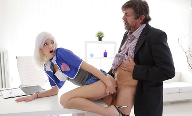 Misa didn't listen to anything her tricky old teacher said. She was busy fantasizing about him