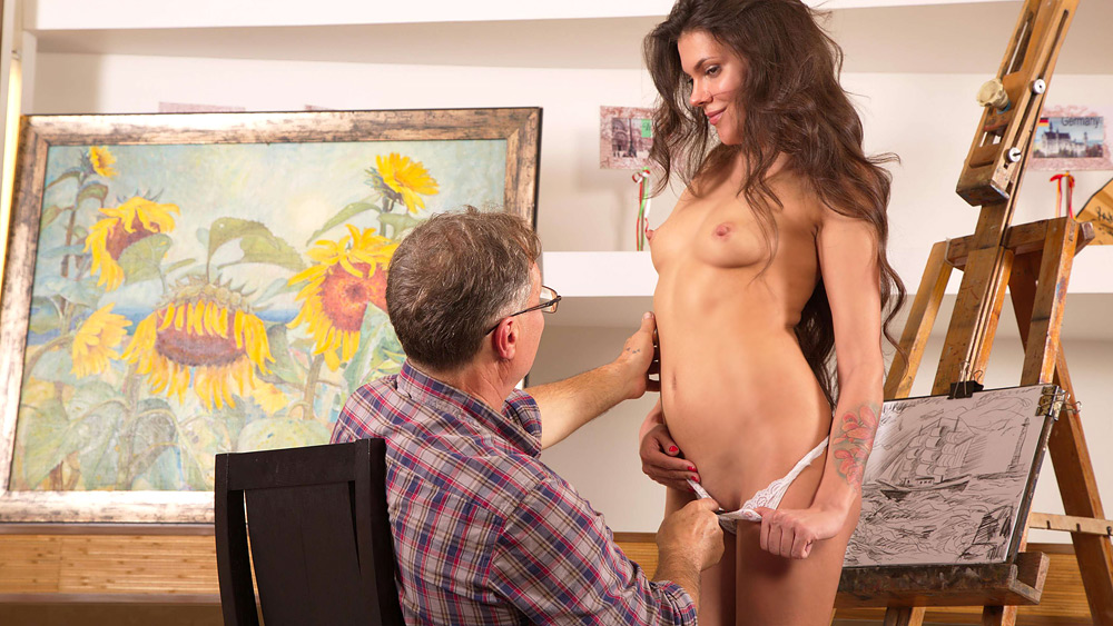 Sintia fucks her ugly old art teacher