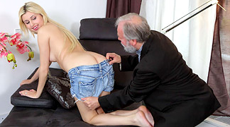 Teen nude with dirty old man