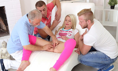 Spoiled virgins member Martina rocks these guys worlds by sucking their big cocks expertly